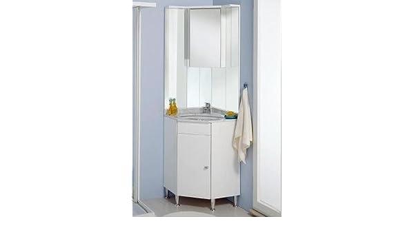 Mobile arredo bagno zara ad angolo con piedini e lavabo