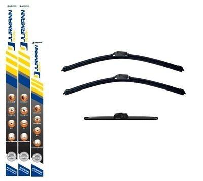 JURMANN VISION+ AERO SCHEIBENWISCHER 650/400 + 350 mm KOMPLETTSATZ VORNE + HINTEN WISCHBLÄTTER
