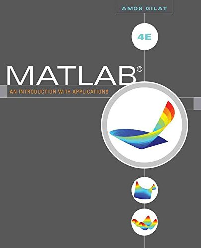 Portada del libro [(MATLAB : An Introduction with Applications)] [By (author) Amos Gilat] published on (December, 2010)