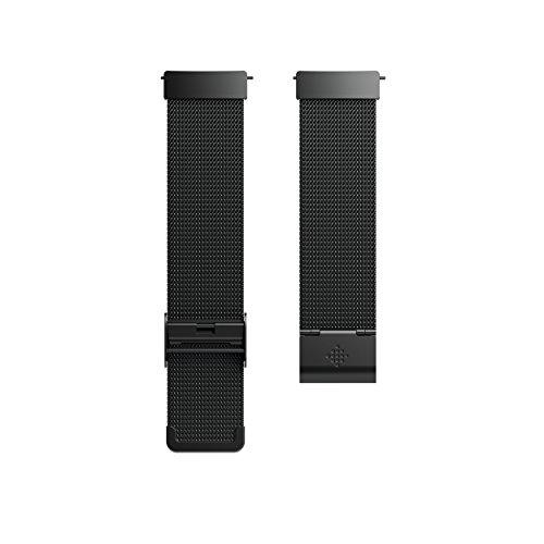Fitbit Versa Smartwatch Accessory Band, Schwarz, OneSize