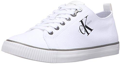 Calvin Klein Jeans Herren Arnold Canvas Sneakers, Weiß (Wht), 45 EU