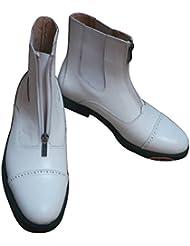 Botas de Montar Cortas Suministros Hípica Para Mujeres y Hombres AD024 Blanco Talla 40