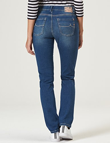 Pioneer Damen Straight Jeans Sally Blau (Blue Stone Used With Buffies 167)