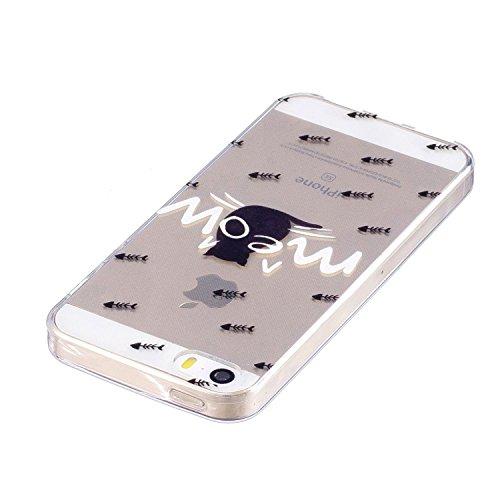 Samsung Galaxy J7 2016 ( J710F ) Custodia Cover, Cozy Hut Samsung Galaxy J7 2016 ( J710F ) Silicone Caso Molle di TPU Cristallo Trasparente Sottile Anti Scivolo Case Posteriore Della Copertura Della P Pesci e gatti