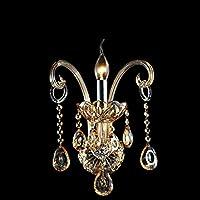 Lampada da parete di stile europeo/ Lampada da comodino cristallo/Specchio camera da letto luce/ lampada da parete decorativo-A