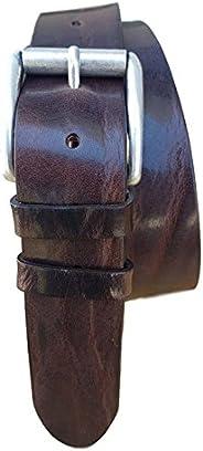 ESPERANTO Cintura Vintage vero Cuoio 4 cm Accorciabile Nichel free, 4 colori