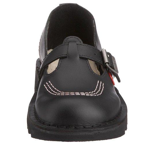 Kickers Kick Lo T W Core, Pompes à plateforme plate femme Noir - Nero (Black/Pink/Black)