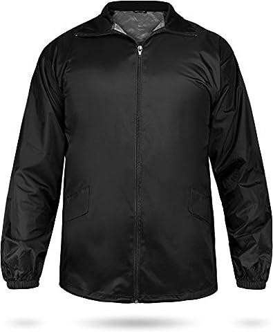 Leichte Windjacke / Regenjacke im Beutel, Unisex - Erwachsene Farbe black Größe XL