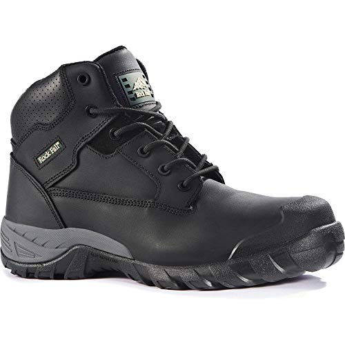 3b29e42c442 Rock Fall - Botas de Seguridad, Color Negro, Negro, RF440A Flint 11, 0V