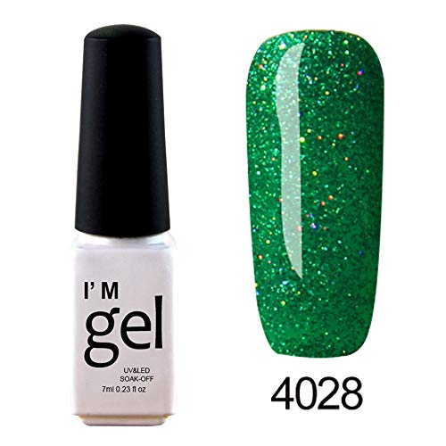 iHENGH Vernis à Ongles, 1pc 7ml Nail Art Brillant Vernis à Ongles Vernis Gel LED UV Polish Gel Polish