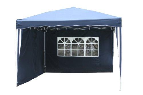 Kronenburg Falt Pavillon Dachmaß 3 x 3 m in blau mit 2 Seitenteilen