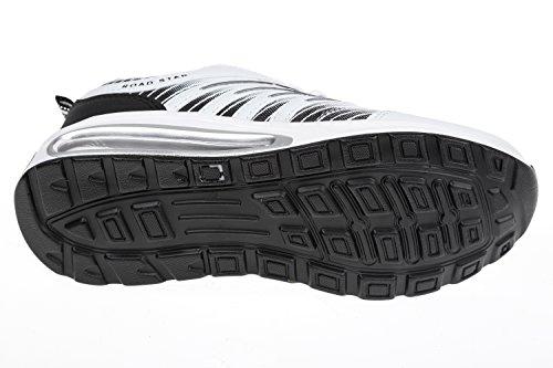 GIBRA chaussures de sport très léger et confortable, blanc/noir taille 36 à 41 Blanc - Weiß/Schwarz