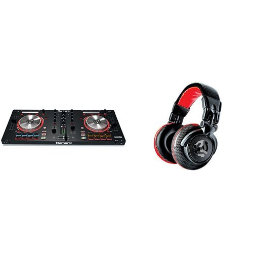 Numark MixTrack Pro III   2 Deck DJ Controller mit Audio I/O + Serato DJ Intro & Prime Loop Remix Tool Kit + Numark Redwave Carbon Qualitativ hochwertige Full-Range Kopfhörer speziell für DJ Bundle