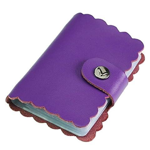 kilofly Porte-cartes–Style Rétro avec 26cartes poches, avec pince Mini carte cadeau incluse taille unique violet
