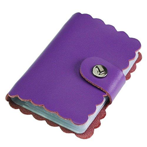 Fermasoldi Porta carte di credito, stile retrò con 26tasche per carte di credito, Fermasoldi, Mini con Gift Card Misura unica purple