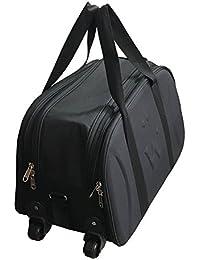 Karp Canvas Travel Duffel Trolley Bag (Travel Duffel bag with wheels - Black)