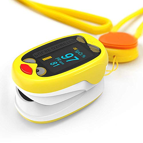 HYCy Puls-Oximeter, Blood Oxygen Saturation Monitor, Recogeable Lithium-Batterie, Compact and Convenient for Family, Take-Out