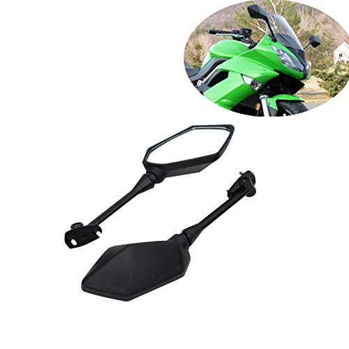 Baedivg Motorrad Rückspiegel für Kawasaki, für Ninja 650R ER6F ER-6F 2009-2016 Ninja 400R 2010-2014 Z1000SX 2011-2012 - Clip Kawasaki Ninja