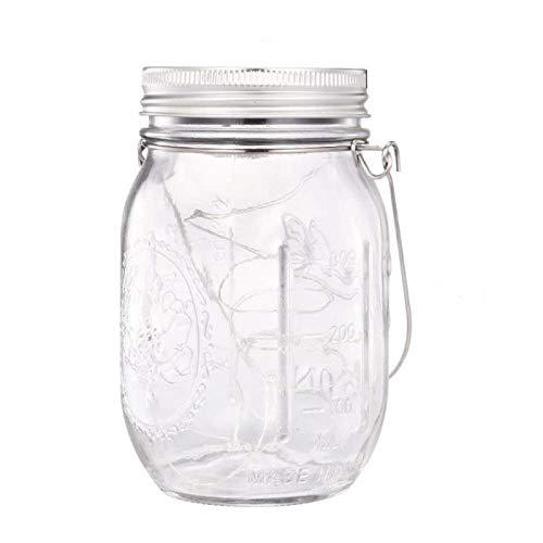 Enko, mason jar, luci solari, led branello chiaro, luci della stringa, appendere le luci per il giardino, patio, halloween, natale, party all'aperto.1 pezzo)