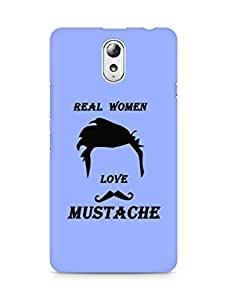 Amez designer printed 3d premium high quality back case cover for Lenovo Vibe P1M (Real Women Love Mustache)