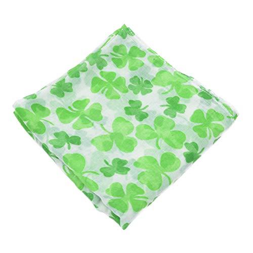 Amosfun Schal St. Patrick's Day Kleeblatt Shamrock Schals Irish Party Kostüm Zubehör (Grün) (Wraps Und Schals Irische)