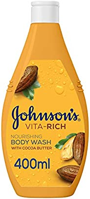 JOHNSON'S Body Wash - Vita-Rich, Nourishing Cocoa Butter, 400ml