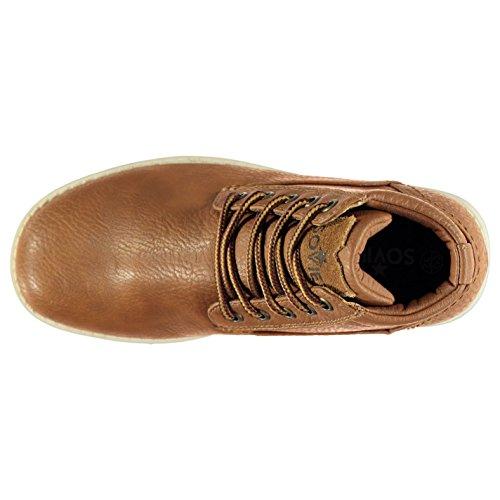 Soviet Enfants Remix Garcons Chaussures Bottes Bottines A Lacets Hiver Chaud Brun Clair