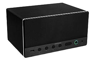MEDION LIFE MD 43035 Lautsprecher Multiroom, Internetradio, WLAN/WiFi zur Einbindung ins Heimnetz, DLNA, USB, AUX-In, Steuerung über APP, schwarz