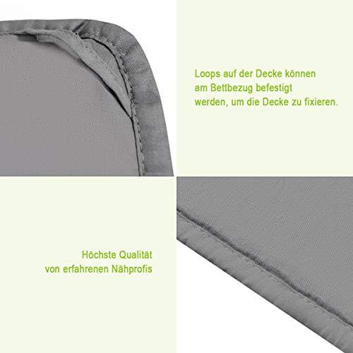 COSTWAY Gewichtsdecke für Erwachsene und Kinder | Schwere Decke Baumwolle | Weighted Blanket Grau (104 x 153 cm, 3) - 5