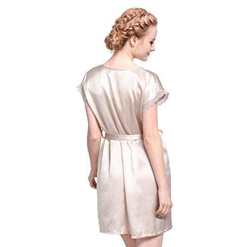 Forever Ange Mesdames de femmes 100% pure soie pyjama nuisette Livraison gratuite Gris - Gris clair