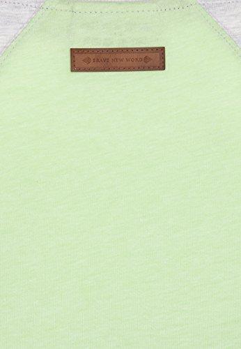 Naketano Female Shortsleeve purger mit Burger III Amazing Grey-Lime Melange