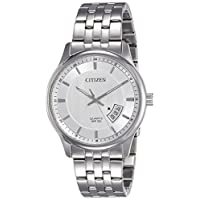 Citizen Men White Dial Stainless Steel Band Watch - BI1050-81A