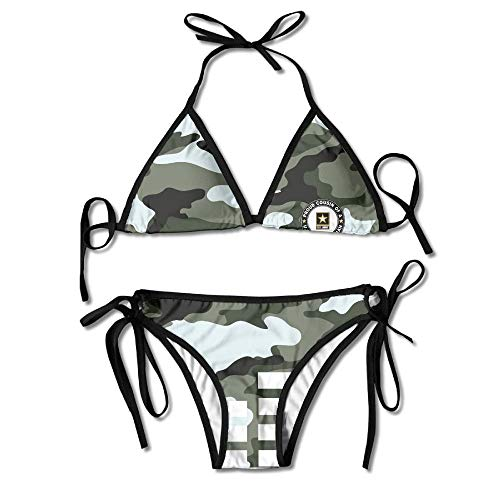 American Military Car Camouflage Bikini Women's Summer Swimwear Triangle Top Bikinis Swimsuit Sexy 2-Piece Set