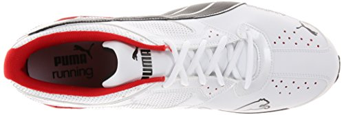 Puma, Sneaker uomo White/Black Grey/Ribbon Red