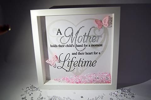 A Mother Holds Their Childs, Crystal Frame, Word Art Pictures,