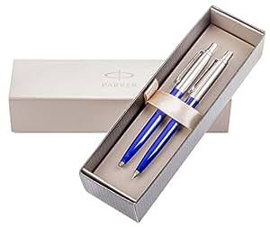 Parker JOTTER Bleu-Set de stylo bille et porte-mine élégant coffret cadeau Parker