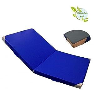 ALPIDEX klappbare Matte Turnmatte Sportmatte Gymnastikmatte 200 x 125 x 8 cm mit Anti-Rutschboden, Lederecken und Tragegriffen RG 80