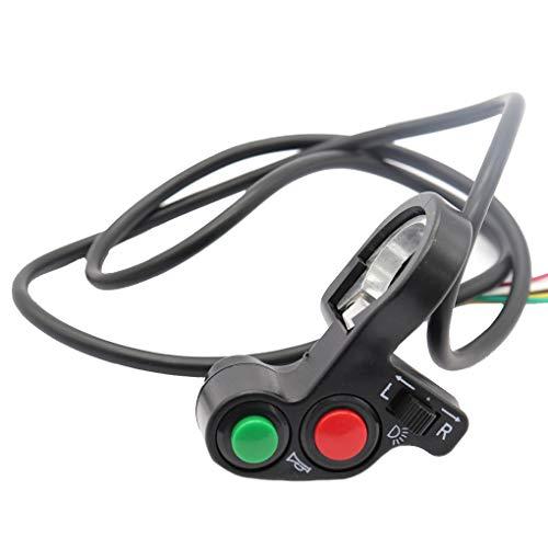 Dergtgh 3-in-1 Motorrad-Scheinwerfer Blinker Licht Horn EIN-Aus-Schalter 12V-Motorrad-Roller-Schalter