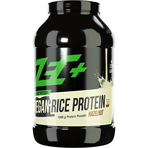 ZEC+ Reisprotein Eiweißpulver, veganes Proteinpulver für optimale & rein pflanzliche Proteinversorgung, Bio Reis Protein-Shake, für effektiven Muskelaufbau & Muskelerhalt, 1000g, Geschmack Haselnuss