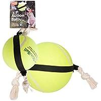 FLAMINGO Action Balle de Tennis pour Chien 15 cm