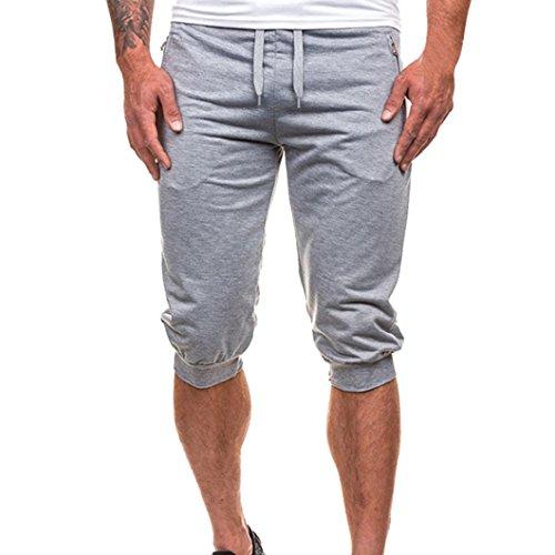 Pantalones Hombre,❤LMMVP❤Hombres Casuales Jogging Dance Ropa Deportiva Holgados Harem Pantalones Pantalón de chándal (L, Gris)