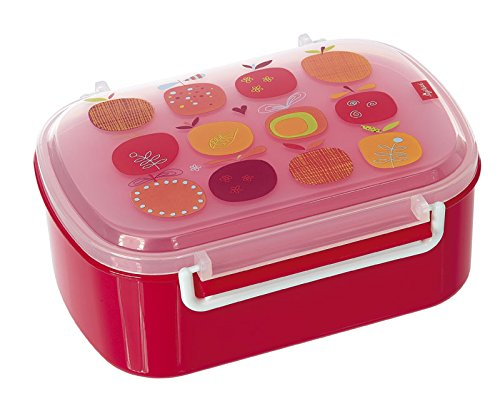 rotdose mit buntem Apfel-Druck, Brotzeitbox Pony sue, Pink, 24738 (Apfel Für Kinder)