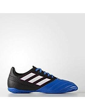 adidas Ace 17.4 IN J - Botas de fútbolpara niños, Negro - (Negbas/FTWBLA/Azul), 34