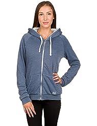 2016 Billabong Ladies Essential Sherpa Zip Hoody BLUE TIDE Z3ZH01 Sizes- - Medium
