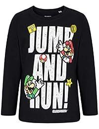 Super Mario Bros Camiseta Mangas largas Negro