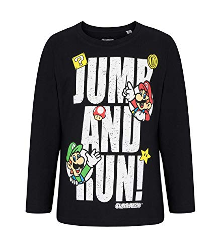 Boys Super Mario Officially Licensed Long Sleeve Top