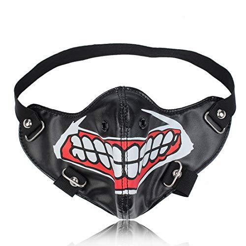 AREDOVL Stilvolle nasenring Motocycle Anti staubmaske niet halbe Gesicht Punk Cosplay männer Cosplay Airsoft Wind Coole Punk (Racing Kostüm Für Männer)