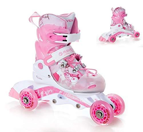 Raven 2in1 Kinder Inline Skates Triskates Princess Größe: 26-29 (16cm-18cm)