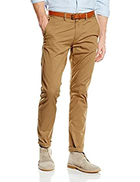 SELECTED HOMME Herren Hose Shhyard Dark Camel Slim St Pants Noos