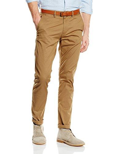 Selected Shhyard Dark Camel Slim St Pants Noos, Pantalon Homme Beige (Dark Camel)